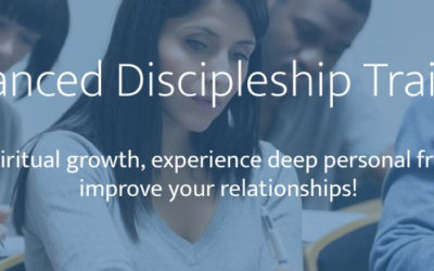 Advanced Discipleship Training (ADT) is coming to Greenville, Thursday, April 25th, 2019
